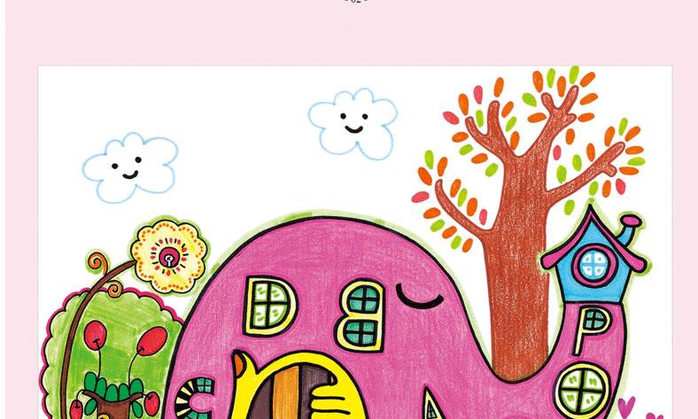 童画_童画时光全套8册 装饰画/水彩笔/油画棒/线描画课堂 入门篇+提高篇