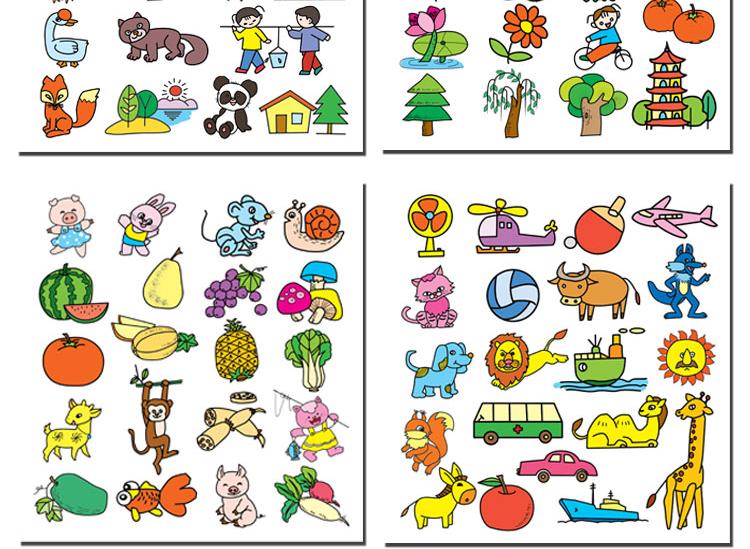 儿童简笔画大全 名师指导简笔画资料教程 幼儿园大班学前班美术教材3