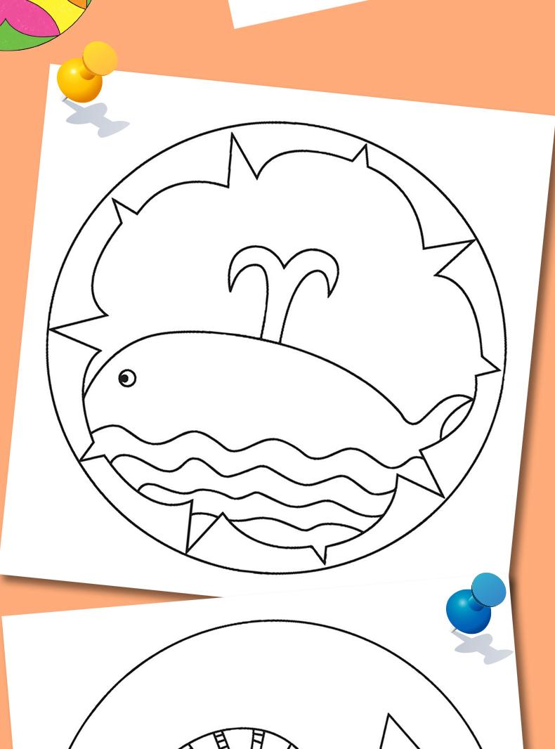 幼儿彩绘曼陀罗6册2-3-4岁儿童绘画图书小手涂色小孩学画画初学