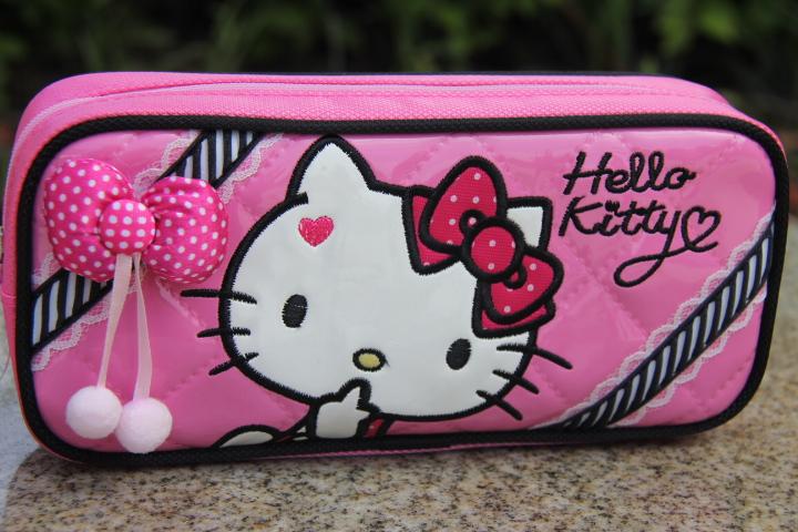 hello kitty笔袋 凯蒂猫kt学生文具包儿童大容量铅笔袋kt8067图片