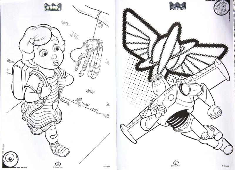 (睿智创新)绘儿乐 disney主题儿童水彩笔画画填色a4涂鸦本套装32页 04