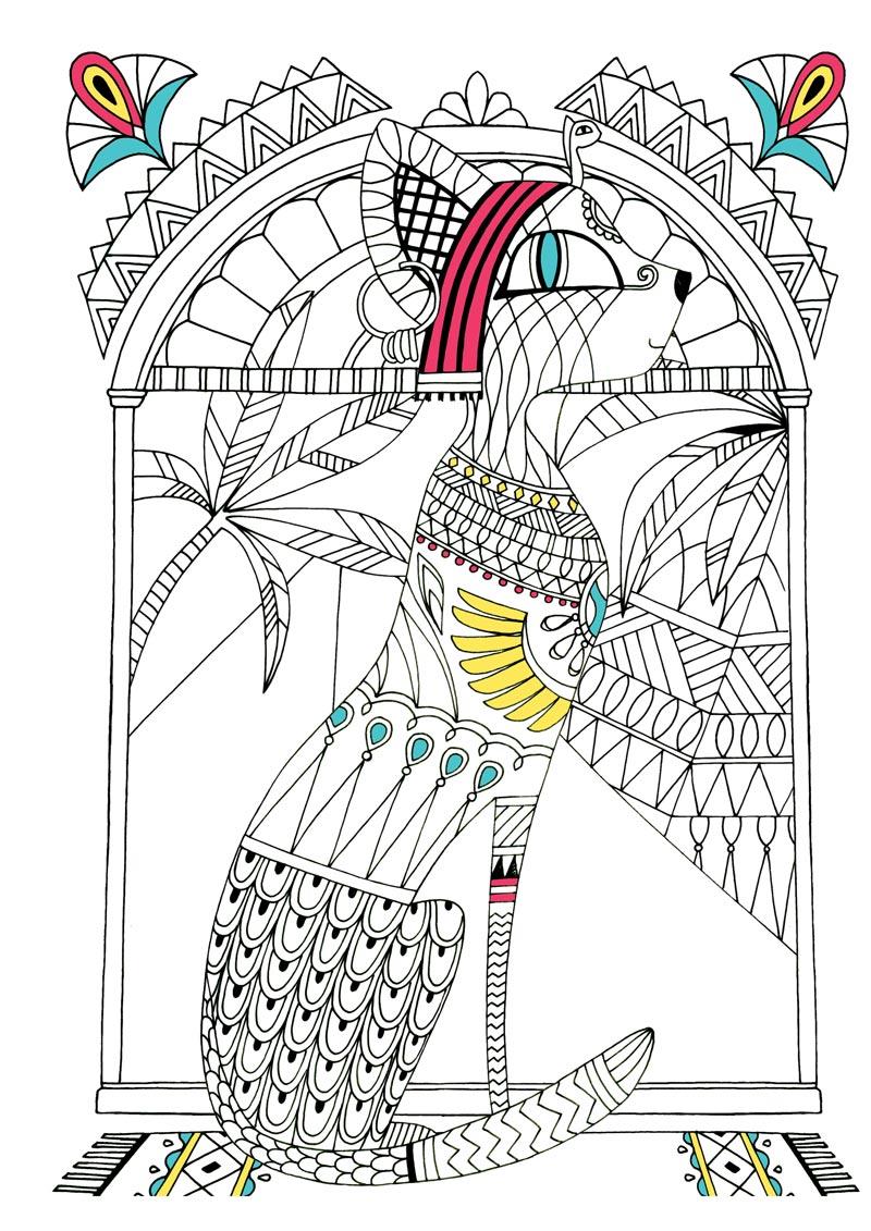fun书 儿童创意手绘涂色书:猫的王国  穆里尔·杜罗,专业插画家