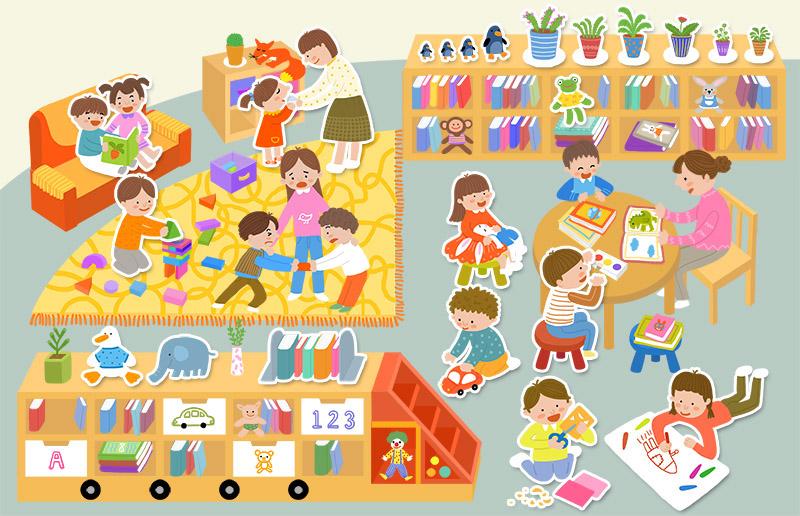 幼儿园,舞台,办公室,餐厅,海洋馆,儿童图书馆等各种主题场景,让宝宝