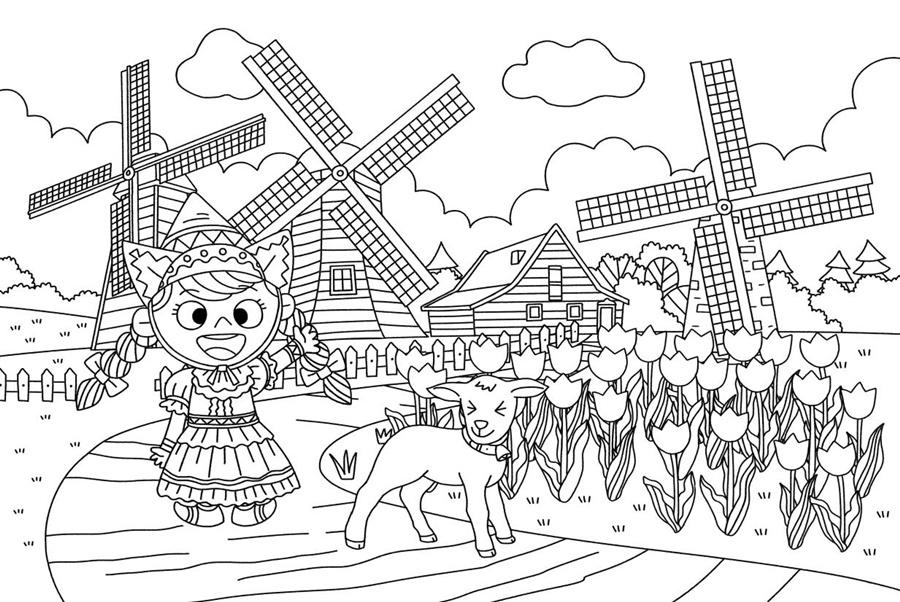 韩国创意儿童全景涂色书:认知力一 辽宁少年儿童出版社z7