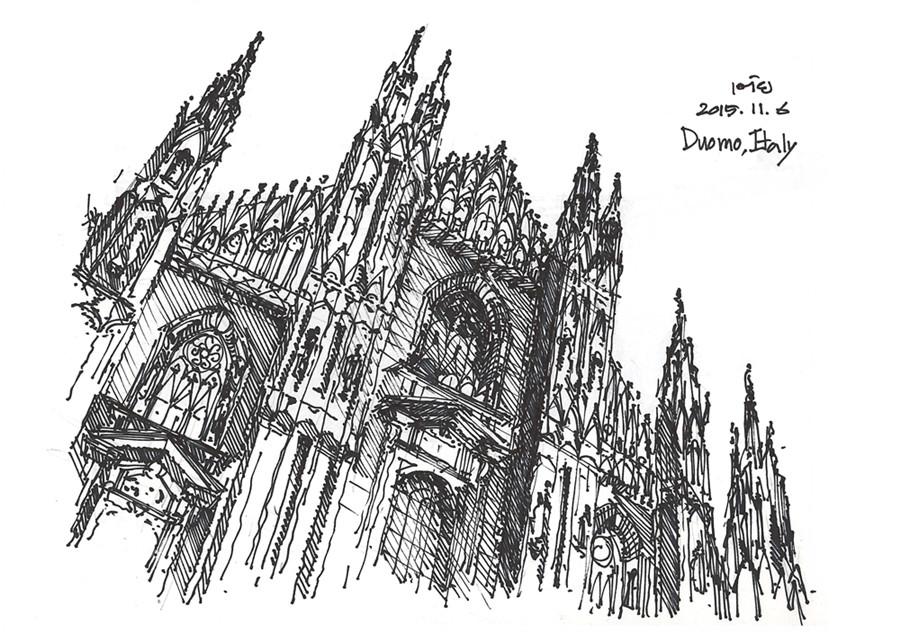 第三章为建筑设计手绘的范本,建筑类型包含居住,商业,文化教育,办公等