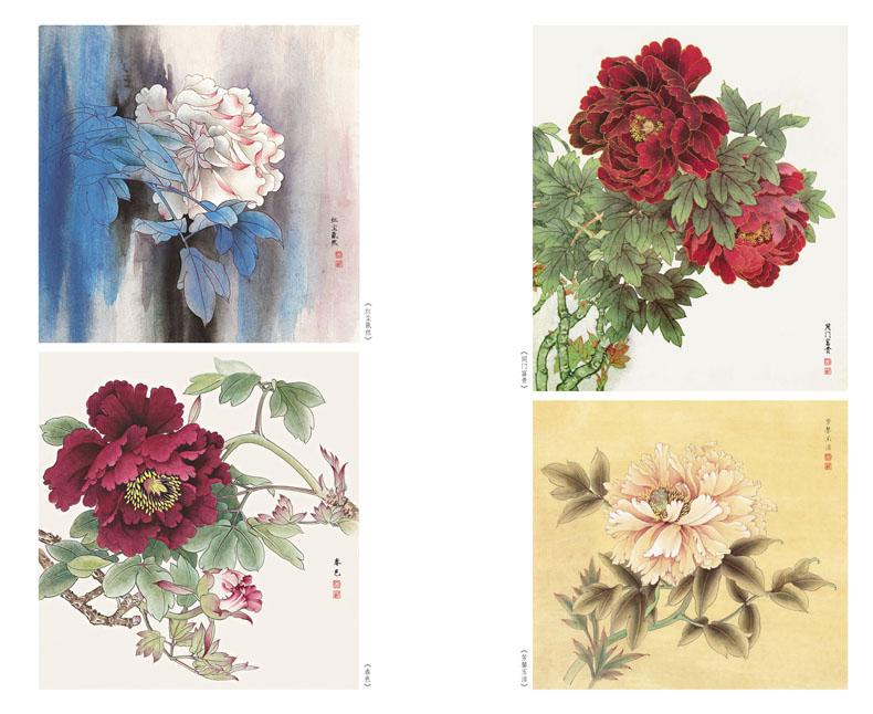 《工笔鲤鱼》《工笔牡丹》《工笔玫瑰》《重彩牡丹》《工笔草虫》